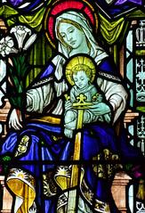 Blessed Virgin and child  shine light on St Edmund