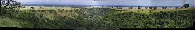 Kyambura gorge panorama