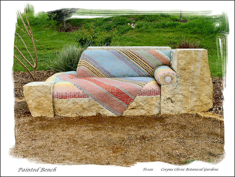 07454-Painted Bench