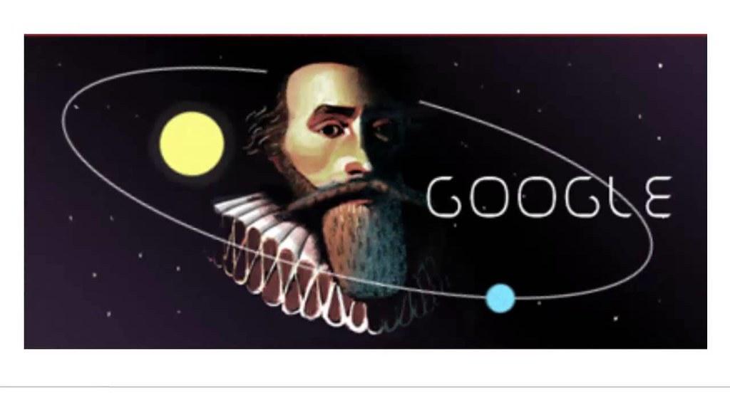 Johannes Kepler 442. Birthday - Google Doodle | presented ...