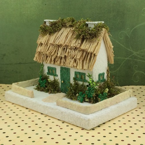 thatched Irish cottage Putz house