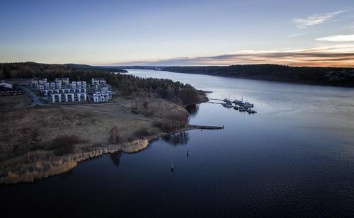moss mossesundet perlebukta rosnes rosnestangen norge norway østfold jeløy jeløya phantom dji aerial multicopter