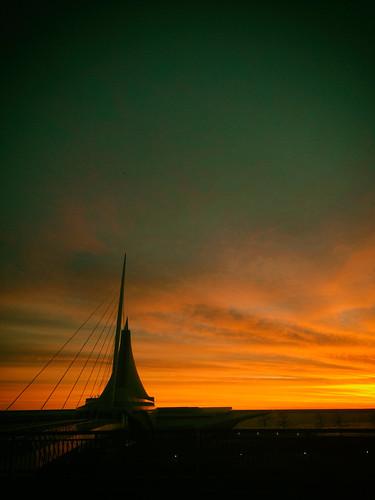 america calatrava milwaukee milwaukeeartmuseum usa unitedstates unitedstatesofamerica wisconsin sunset us fav10 fav25 fav50 fav100