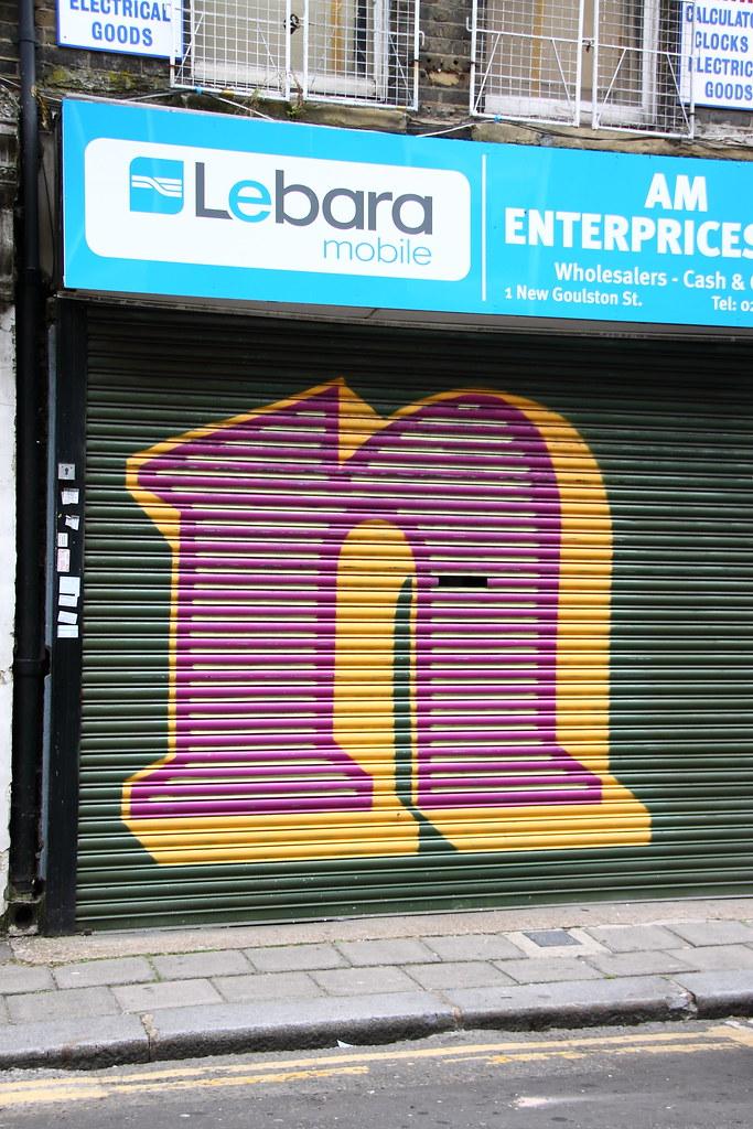 London Map Shoreditch Area: Graffiti In Shoreditch Area, East London