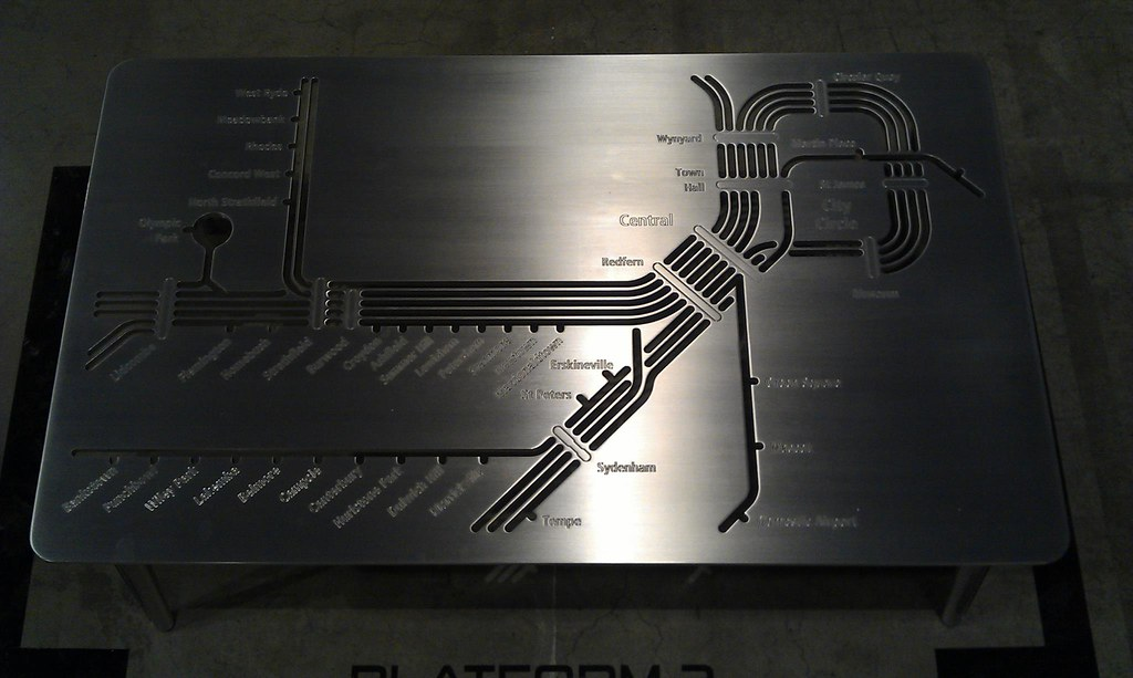 Savage Design Sydney Trains Network Map \'Platform 1\' 316 s ...