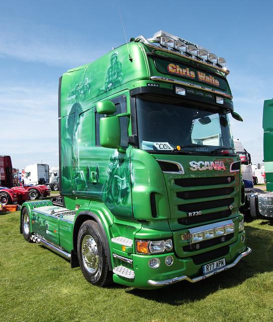 Chris Waite Scania R760 V8 truck Truckfest Peterborough 2013