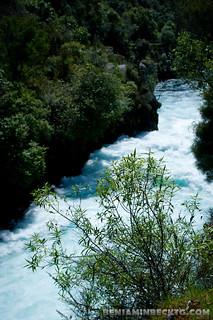 Huka Falls   by Benjamin Beck