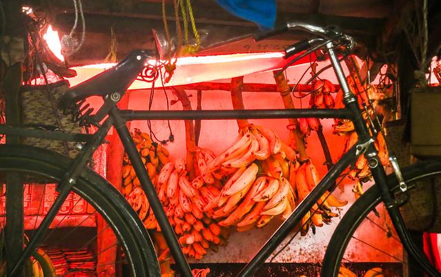 Bike and bananas, Zanzibar