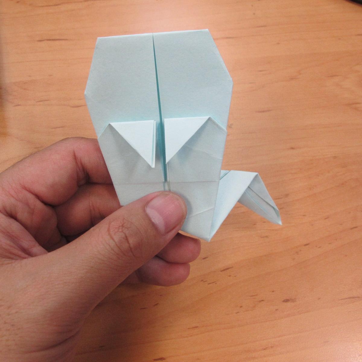 วิธีพับกระดาษเป็นรูปผีน้อย 013
