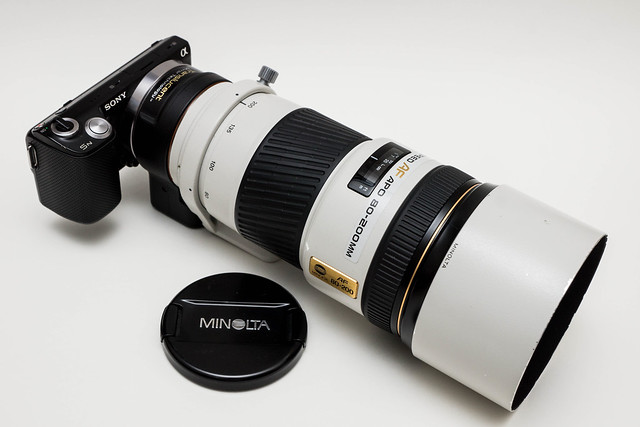 my Sony NEX-5N with Minolta 80-200mm f2.8 HS APO G (LA EA2 A to E mount adapter)