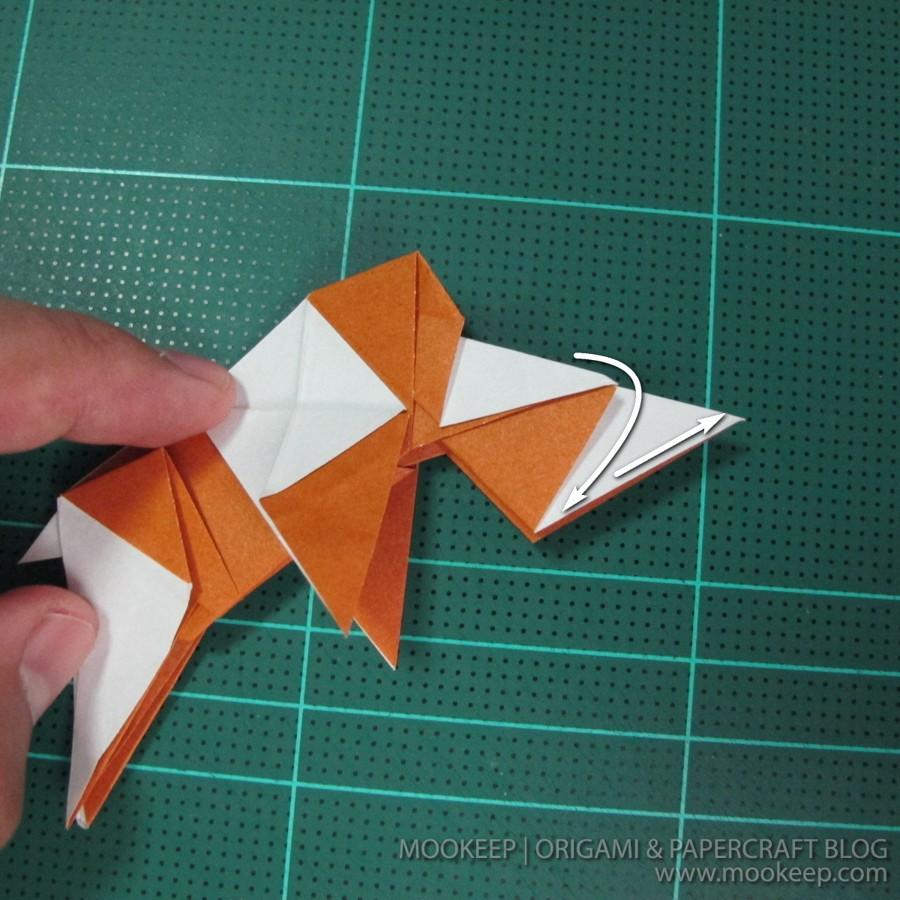 วิธีพับกระดาษเป็นรูปหมี (Origami Bear) 032