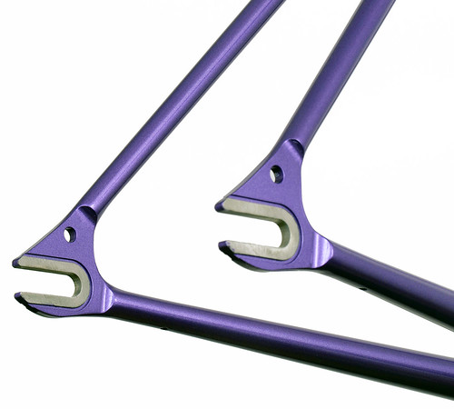 <p>Gunnar Track Star Rear Dropouts in Starlight Purple.  Made of stainless steel, the dropout faces are masked off to provide a solid surface to which to clamp your wheel.</p>