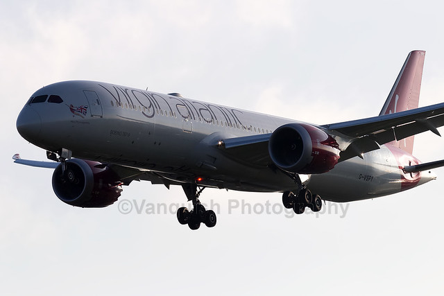 G-VSPY Miss Moneypenny Virgin Atlantic B787-9 London Heathrow Airport