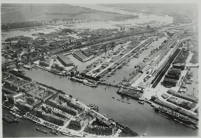 Kop van Zuid luchtfoto ca. 1938