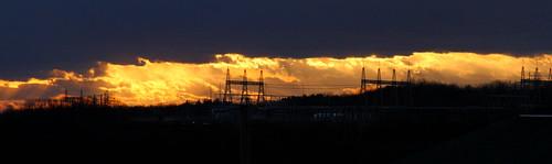 sunset cloud powerline johnsoncity