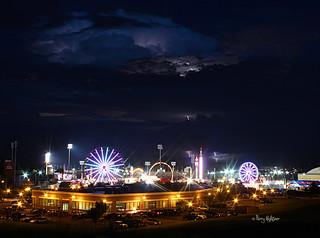 Salem Fair Lightning Strikes - Thunderstorm July 6, 2013 Salem Va