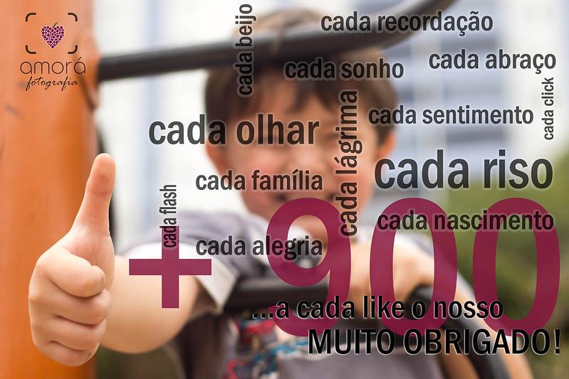 Anúncio de 900 likes - Amorá Fotografia