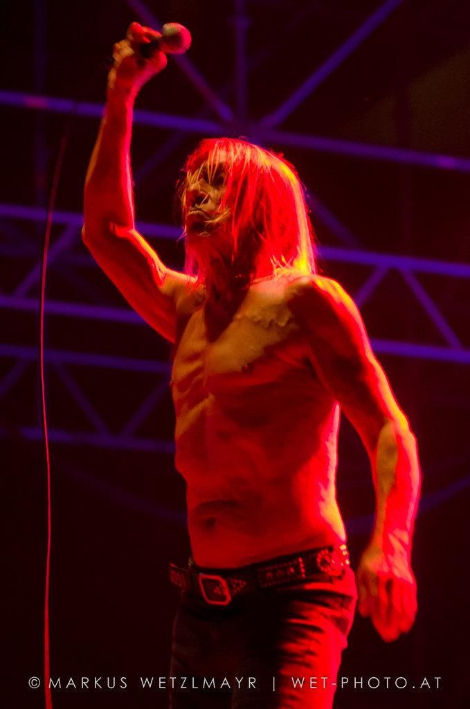 """US Garage Rock band IGGY POP & THE STOOGES performing live as main act at Arena, Vienna, Austria on August 9, 2013.  NO USE WITHOUT PRIOR WRITTEN PERMISSION.  © Markus Wetzlmayr 