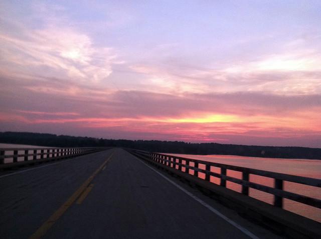 Sunset over Stockton Lake