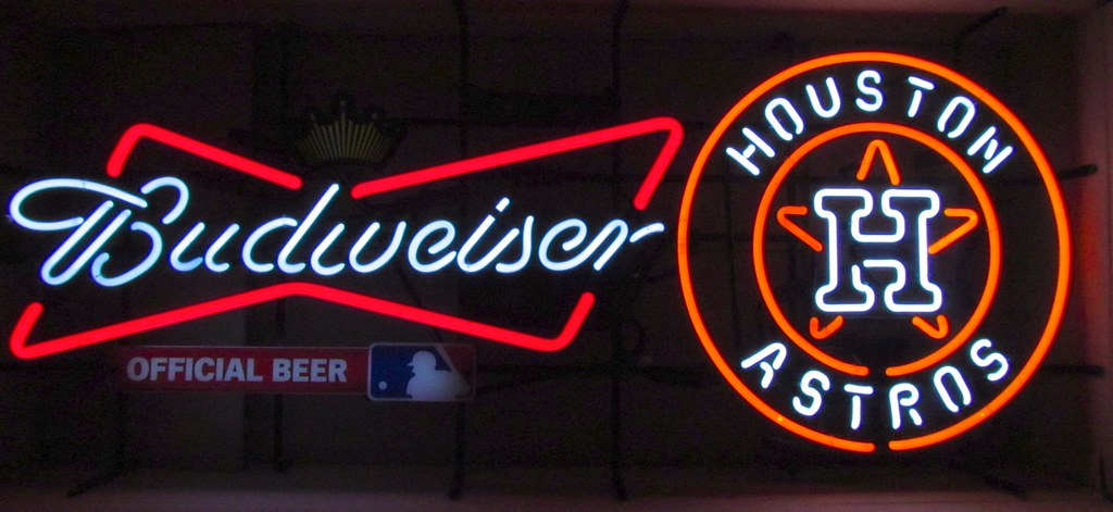 Budweiser Houston Astros Neon Sign - http://bit ly/BeerSig