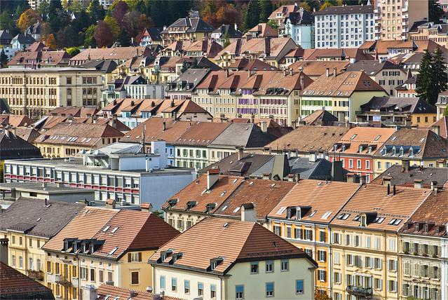 La Chaux-de-Fonds in Autumn Time. No.95.