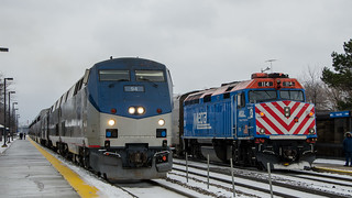 Amtrak and Metra in Naperville | by mjgross