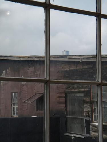 Eastside Window with Dark Moon