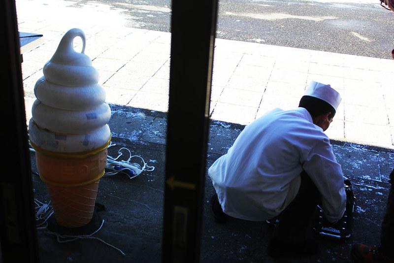 三本松茶屋でスノーシューをレンタル