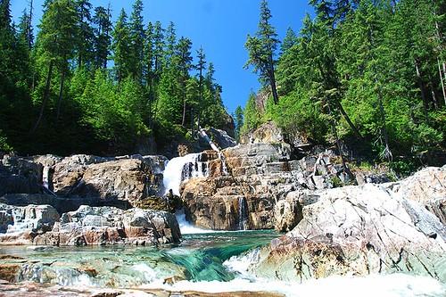 Lower Myra Falls, Strathcona Provincial Park, Central Vancouver Island, British Columbia, Canada