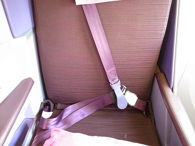 <p>b)このタイプのシートベルトは初めてだった</p>