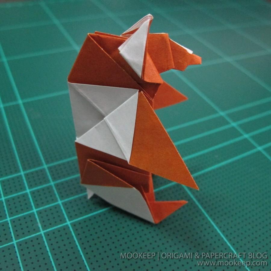วิธีพับกระดาษเป็นรูปหมี (Origami Bear) 043