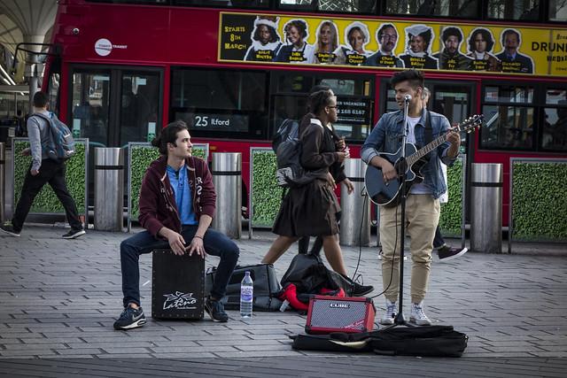 Buskers at Stratford