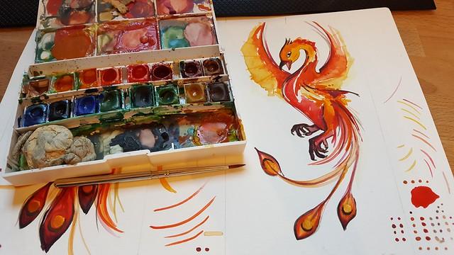 painting phoenix ~ WIP