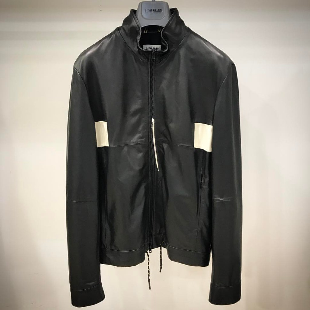official photos 76327 90834 Bomber in #Pelle #Nero con fascia bianca #Lowbrand | Flickr