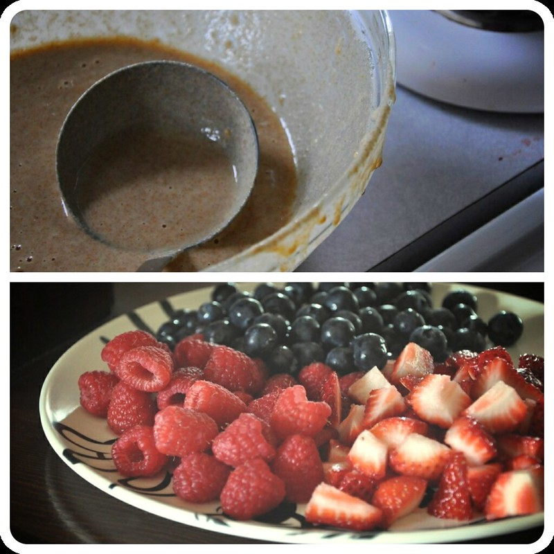 Triple Berry Pancakes