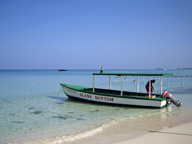 Glass bottom boat - Negril, Jamaica