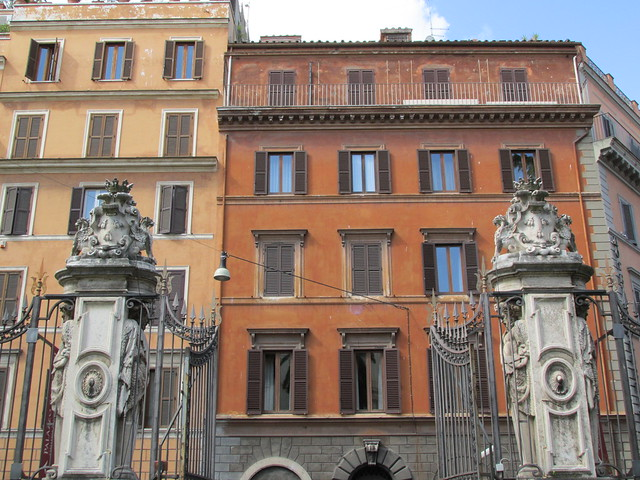 Buildings on the Via dei Due Macelli