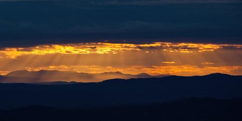 park sunset cloud sun sandwich national qld rays lamington