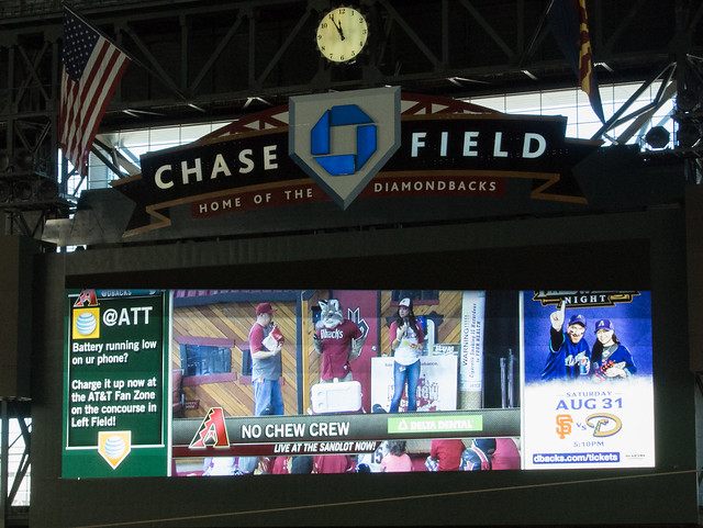 No Chew Crew at Chase Field