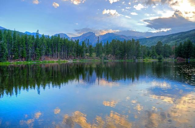 Sprague Lake Reflections at Rocky Mountain National Park, Colorado