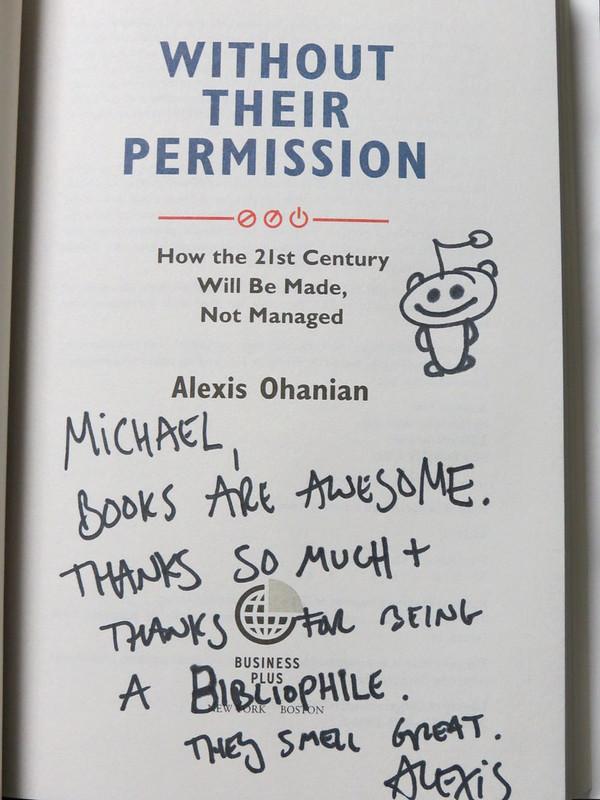 Alexis' autograph