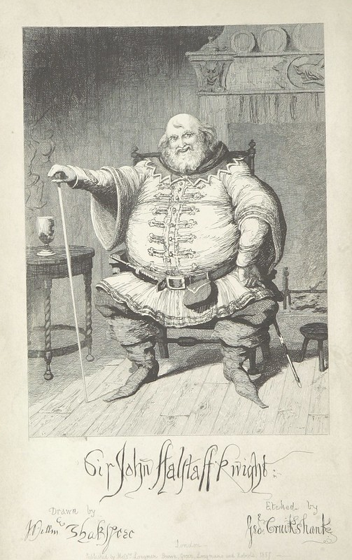"""British Library digitised image from page 12 of """"The Life of Sir John Falstaff"""""""