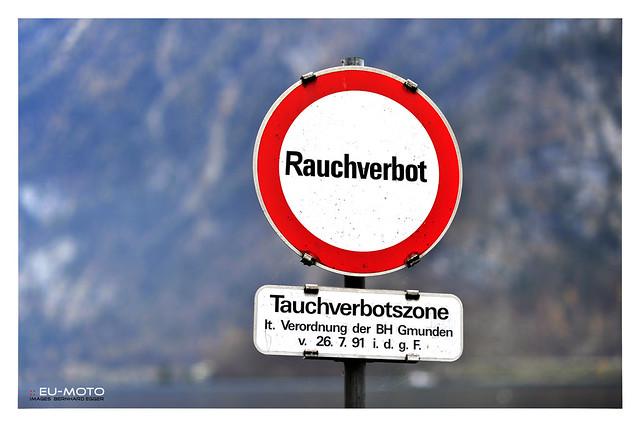 Rauchverbot Tauchverbot diving prohibition Hallstatt Austria (c) Bernard Egger :: rumoto images 7591