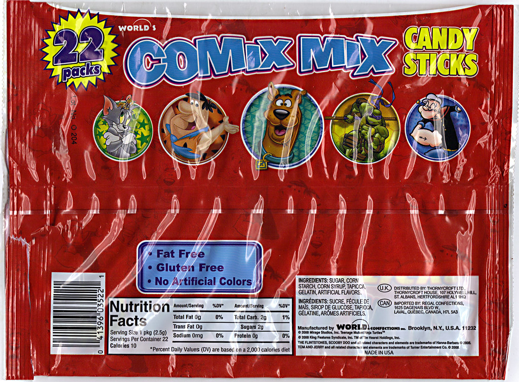 WORLD Confections :: COMIX MIX CANDY STICKS iv / ..bag (( 2008 )) by tOkKa