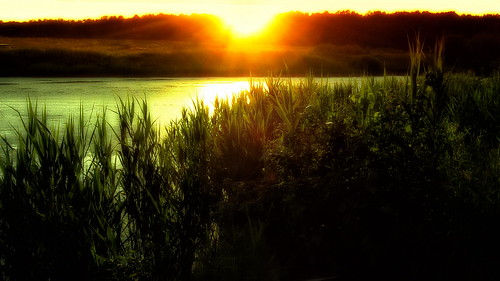 sunset lake landscape outdoor 2006 decline