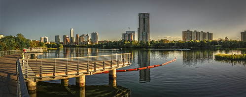 ladybirdlake austin texas dawn boardwalk sunrise olympus