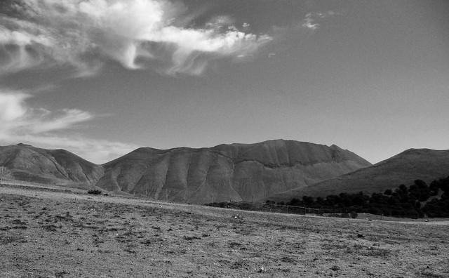il Monte Vettore visto dall'alta Val di Canatra