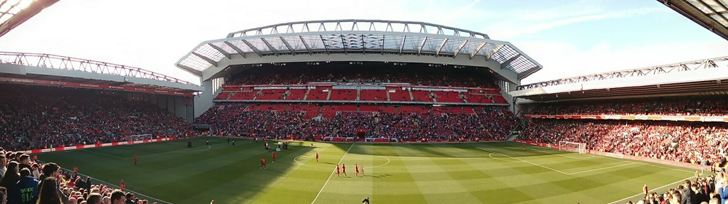 Liverpool FC home, Anfield with the new Main Stand | Flickr