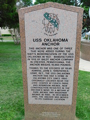 USS Oklahoma Anchor Historic Marker