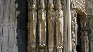 Chartres, central portal jamb figures (right) | by profzucker